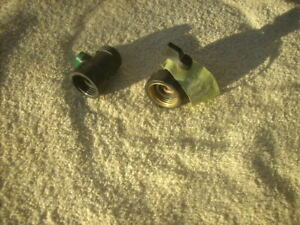 1 Orbit metal hose shut off 1 Orbit hose swivel 1 plastic hose shut off
