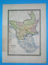 1836 ORIGINAL MAP SERBIA BOSNIA ROMANIA BULGARIA GREECE AEGEAN ARCH. MOLDAVIA