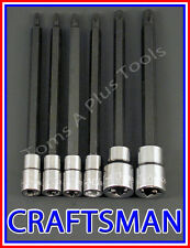 CRAFTSMAN HAND TOOLS 6pc 1/4 3/8 Long Torx / Star bit ratchet wrench socket set
