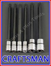 CRAFTSMAN HAND TOOLS 6pc 1/4 3/8 Long Torx / Star bit ratchet wrench socket set