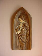 Vtg Italian Madonna Child Plaque Ceramic Plaster Catholic Wall Art Pacini
