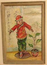 Antique Still Life China Doll Painting Listed Signed V C Hoyt b.1880 Wisconsin
