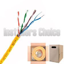 CAT5E 1000 FT UTP SOLID ORANGE LAN NETWORK ETHERNET CABLE RJ45 BULK CAT5 PULLBOX