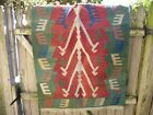 Old Colorful Heavy Hand Made Patterned 34 by 46 Inch Rug