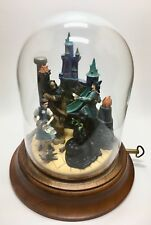 Rare Vintage Franklin Mint Wizard of Oz Musical Figurine Under Glass Dome