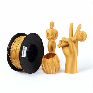 Filament for 3D Printer and Pens, Metal Gold, 1kg Spool - 1.75mm Diameter