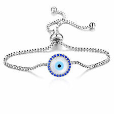 Mother of Pearl Evil Eye Bracelet with Crystals from Swarovski® in Box