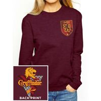 Large Red Ladies Harry Potter House Gryffindor Sweatshirt - Crewneck Womens