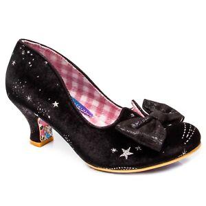 Irregular Choice NEW Dazzle Razzle black silver star mid heel shoes sizes 3-9