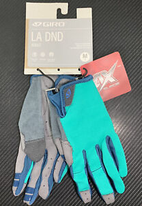 Giro LA DND Woman's Full Finger Cycling Gloves Turquoise/Blue Teal, Medium *NWT!