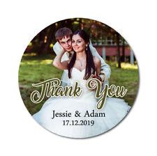 "100 ct labels kawaii olive 1x2 5//8 /"" Custom Cute Thank you stickers"