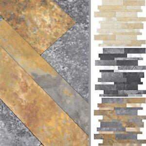 Vinyl Mosaik Fliesen Mirbach Selbstklebend Steinoptik Beige Braun Gold Schwarz