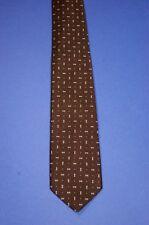 Original Kravatte 70er, 100%Polyester, Vintage Tie baun