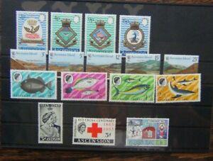 Ascension Island 1968 Fish 1971 Royal Navy Crests 1978 Volcanoes sets MM