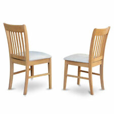 East West Furniture Nfc-oak-c Kitchen/dining Chair Set With Cushion Seat Oak 2