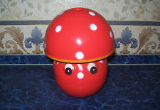 Vintage USSR BIG CELLULOID MUSICAL TOY TUMBLER MUSHROOM SOVIET UNION Original