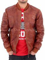Aviatrix Mens Boys Baseball Quilted College Bomber Vintage Leather Jacket 2455