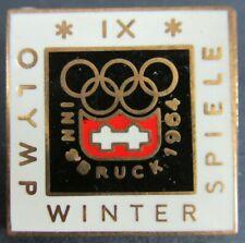 Vintage 1964 Innsbruck Austria Olympics Ix Games Enameled Pin