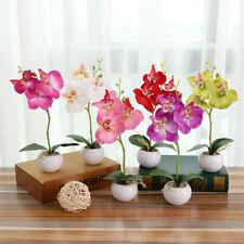 Artificial Flowers Vivid Bouquet Butterfly Orchid Mini Plant Bonsai Home Decor