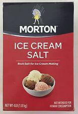 4 Pounds Morton Ice Cream Salt, Rock Salt for Ice Cream Making