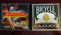 Bicycle Blackjack/Classic Board Games Microsoft 95 Compatible CD PC Game 1996