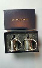 Ralph Lauren Wentworth Salt and Pepper Shaker ( Silver Plated Brass) NWB