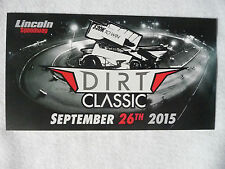 Dirt Classic At Lincoln Speedway September 26, 2015 6 X 11 Photo Card