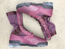 Hi-Tec Magnum Tanker Burgundy Leather Lace Up Boots Deadstock Size 9.5