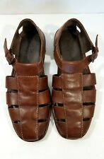 4390e098931a Tommy Bahama men shoes sandals leather fisherman buckle strap brown size 10  D