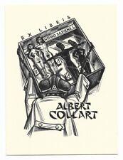 GERARD GAUDAEN: Exlibris für Albert Collart, Homo sapiens im Schaukasten