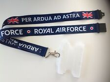 Blue RAF lanyard + ID holder Royal Air Force British Army gift  badge