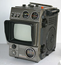 Vintage Nippon NEC 5000 ANALOGUE Portable MONITOR TV AM FM Radio Receiver Set