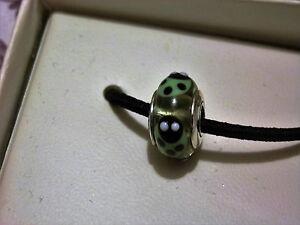 BN GENUINE PANDORA RETIRED GREEN LADYBIRD MURANO : 790653