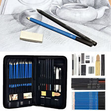 42pc Professional Sketching Drawing Set Art Pencil Kit Artists Graphite Charcoal