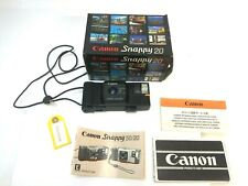 Canon Snappy 20 35mm Point And Shoot Film Camera W/ Strap - New in box