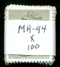 GREAT BRITAIN SG-X908, SCOTT # MH-94 MACHIN USED, 100 STAMPS, GREAT PRICE!