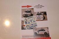 DECALS 1/43 SUBARU IMPREZA WRC TORRE N°37 RALLYE TOUR DE CORSE 2001 WRC RALLY