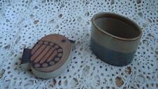 "Vintage UCTCI Japan Stoneware Bird Trinket Box W/Label 3.25"" Tall"