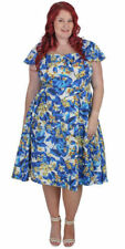 Plus Size Cotton Blend Floral Dresses for Women