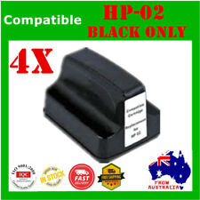 4x HP02 02 XL Ink Cartridges Black ONLY For HP 3110 3210 C6180 C6280 C7380 8180