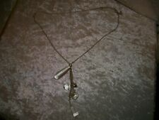 crystals and heart Long necklace with