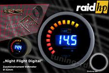 Raid hp 12 Volt Zusatzinstrument Nightflight Digital Blau LCD Anzeige