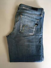 CITIZENS OF HUMANITY Kelly Stretch Low Waist Cropped Capri Light Jeans Womens 28