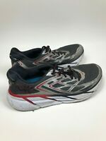 Men's Size 9.5 Hoka One One M Clifton 3 Gray Black Red Athletic Running Shoes