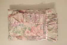 Vintage Shabby Chic Osman Single Frilly Floral Duvet Cover With Pillow Case