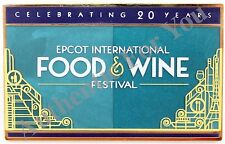 Disney 2015 Epcot 20th Anniversary Food & Wine Festival Tasting Trading Pin