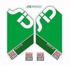 Rock Shox SID Race Mountain Bike Cycling Factory Style Decal Kit Sticker Green