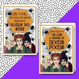 Vibin'Tiger -Hocus Pocus Birthday Halloween Card! A6 Personalised Greeting Card!