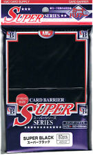 80 KMC Super Noir Noir CARTE BARRIÈRE Japanese Deck Protecteurs MAGIC POKEMON