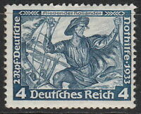 Stamp Germany Mi 500 Sc B50 1933 WWII 3rd Reich Dutchman Richard Wagner MNG